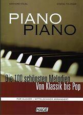 Klavier Noten : PIANO PIANO Band 1 Ausgabe: MITTELSCHWER (leMi- Mittel)  HAGE