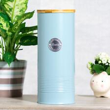 Typhoon Retro Blue 27cm Pasta Canister Enamel Kitchen Storage Tin Container Pot