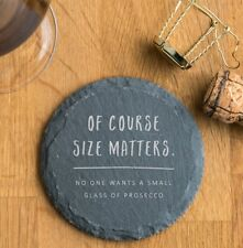 Personalised Novelty Prosecco Gift Slate Coaster Funny Present for Women Her