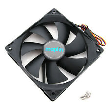 14CM 140mm Black Fan Cooler Fan Case PC Computer Cooling 3 Pin + 4 Pin Molex