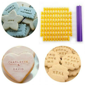 DIY Alphabet Number Letter Cookie Biscuit Stamp Cutter Embosser Cake Mould Tools