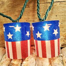 10 Light AMERICAN FLAG TUBE Set Adler UL5028 USA PATRIOTIC God Bless AMERICA NeW