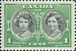 Canada   # 246   HRH  ELIZABETH  &  MARGARET    Brand New 1939 Original Gum