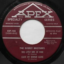 THE EVERLY BROTHERS The little girl of mine  CANADA 1957 1st Press APEX EP 45