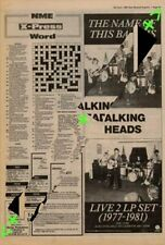 Talking Heads The Name Of This Band Is Advert NME Cutting 1982