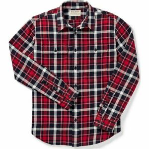 Filson Scout Shirt - XS - 20049628 Lightweight Flannel Black Red White Check