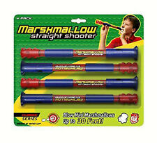 Marshmallow Fun Classic Straight Shooter 4-Pack Party Blow Gun Shoots Mini