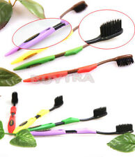 4x Bamboo Charcoal Double Ultra-soft Teeth Toothbrush Z