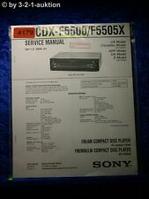 Sony Service Manual CDX F5500 /F5505X CD Player (#4179)