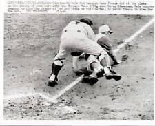 Vintage Wire MLB Photo Gene Freeze out at the plate