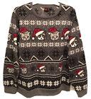 GRUMPY CAT Ugly Christmas Sweater XXL Sweatshirt Holiday Xmas Santa Hat Kitty