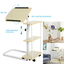 Adjustable/Moveable Over Bed Table Mobility Aid Chair/Sofa/Hospital Desk WOOD UK
