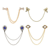 Women Vintage Antique Elegant Fashion Sweater Shawl Chain Clips Cardigan Collar