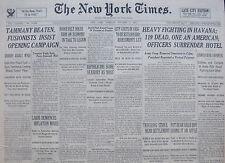 HEAVY FIGHTING IN HAVANA. PET BEAR KILLS BOY. DUTCH FIND ARMED 10-1933 OCTOBER 3
