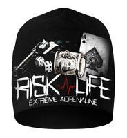 Winter Hat Cap Beanie Czapka Cotton Black Ultras Hooligans Risk Gun Pistol Gang