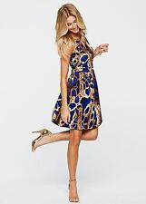 BODYFLIRT BOUTIQUE BLUE PRINT DRESS SIZE 6 TO 8 NEW