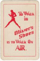 Playing Cards Single Card Old OLIVER'S SHOES Advertising Art Design Walk On AIR