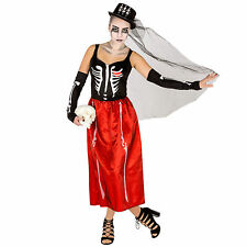 Sexy Skeleton Kostüm Kleid Karneval Fasnacht Halloween Horror Skelettkleid