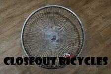 "24"" 144 Spoke Bicycle Front Wheel 14G Chrome Lowrider Cruiser Vintage Tricycle"