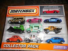 10 PACK MATCHBOX EXCLUSIVE RED CAMARO POLICE LAND ROVER VOLKSWAGEN ORANGE BUG +
