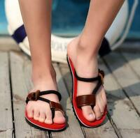 Mens flip-flops thong Leisure comfort beach slippers flat sandals clip toe shoes