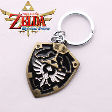 The Legend of Zelda Triforce Shield Keychain Key Ring Pendant Collectible Gift