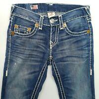 True Religion BOBBY SUPER T Mens W31 L31 Vintage Jeans  28 Blue Slim Straight