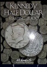Kennedy Half Dollar Starting 2000 Coin Folder Harris Album #2942