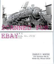 FEb 1953 L&M #161 Edwardsville Illinois ORIGINAL VINTAGE PHOTO-Railroad