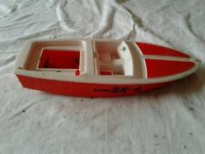 Vintage 1965 Eldon Sk-4 Battery Operated Plastic Speed Boat Runabout