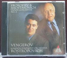 Fabulous Vengerov Rostropovich 6 Tracks CD Concerto Violin 62mins Germany Teldec