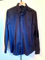 NWT J Crew Mens Shirt Wool Dark Gray Elbow Patch, Long sleeve, Size S