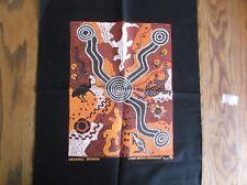 ABORIGINAL ART PANEL BULURRU WATERHOLE DREAMING LYNDA BROWN NABANUNGA REPRODUCT