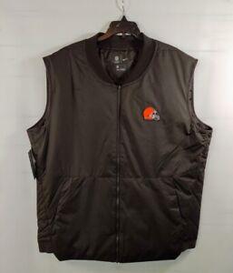 NWT Nike Cleveland Browns Sideline Full-Zip Vest Jacket 944336239 Medium OnField