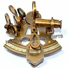 Solid Brass Sextant Nautical Maritime Astrolabe Marine Gift Ships Instrument