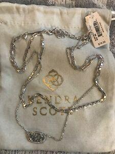 Kendra Scott Elisa Multi Strand Necklace in Platinum Drusy