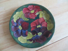 EARLY MOORCROFT LARGE PLATE CLEMATIS PATTERN C 1940