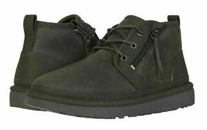 UGG NEUMEL ZIP MLT CHUKKA MEN'S BOOTS SHOES BLACK OLIVE PURE WOOL SIZE 11
