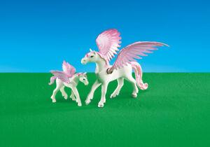 Playmobil 6461 Pegasus and Foal Horses Purple Wings - FREE P&P