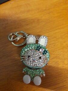 Gorgeous Crystal Rabbit Keyring