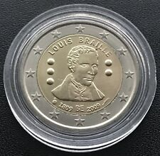 2 euro 2009 Bélgica 🇧 🇪 Louis Braille