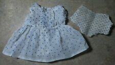 Vintage! Organdy Polk a Dot Dress & Ruffled Panties Composition & Bisque Doll
