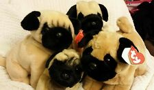 RUSS, Yomiko Classics, Aurora, and Ty collection of 4 PUG puppy dog  plush
