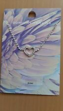 Ladies Anklet With Crystal Stones & Heart Design Dorothy Perkins