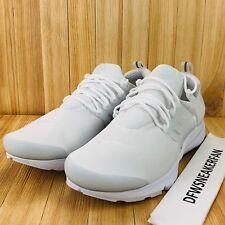 Nike Air Presto Essential Running Shoes Men's Size 13 Triple White 848187-100