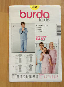 Burda kids - Kinder Pyjama / Schlafanzug - 9747 - Gr. 98-170