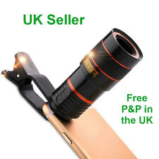 HD Clip-on 12x Optical Zoom Lens Universal Mobile Telescope Camera Gift UK