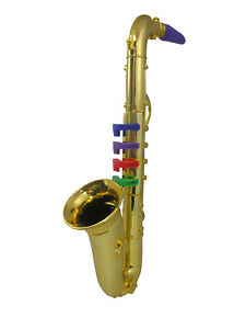 Childrens Musical Toy Saxophone Real Sound 4 Keys Easy Learning Gold Silver Prop