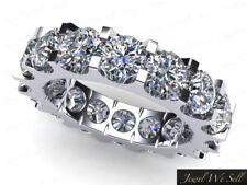 4.50Ct Round Diamond Shared U-Prong Wedding Eternity Band Ring 14k Gold I Si2