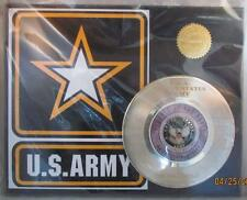 U.S ARMY RECORD DISPLAY 1 of 1 THIS WE'LL DEFEND engraved on record NEW